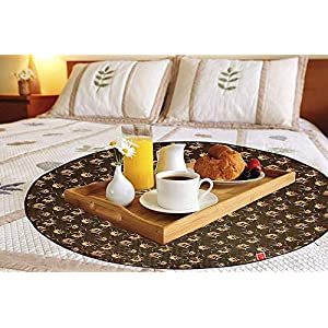 CASA-NEST KANUSHI Comfort House Bed Server/Food Mat/Bedsheet Protector/Reversible in 3 Layered Heavy Material