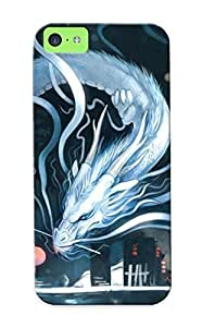 Ideal Trolleyscribe Case Cover For Iphone 5c(hatsune Miku Facing A Dragon), Protective Stylish Case