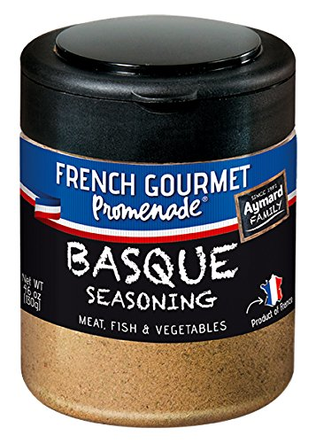 French Gourmet Promenade – Basque Seasoning for Meat, Fish & Vegetables – 4.6 oz