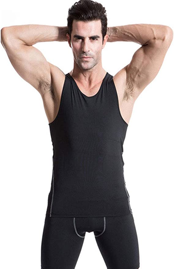 Details about  /Mens Sleeveless Compression Tank Top Fitness Base Layer Running Gym Sports Vest