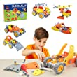 Educational Toys Helicopter Construction Motorcycle 4