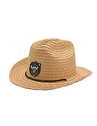 Straw Jazz Hat Boys Children Cowboy Style Summer Sun Trilby Hats