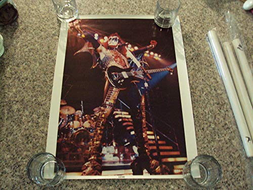 Vintage Kiss Gene Simmons Poster Kiss Alive ll 1977 Unmarked