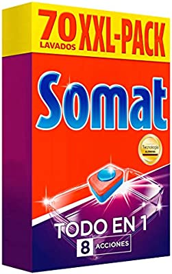 Somat Todo en 1 Pastillas Lavavajillas - 70 Dosis: Amazon.es ...