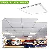 2x2FT LED Flat Panel Troffer Light, 40W 5000K