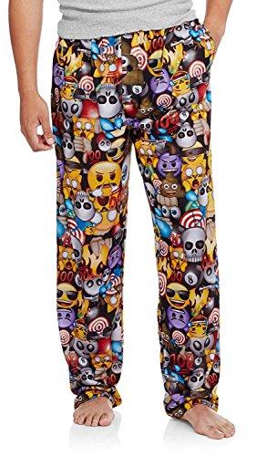 Emoji Men's Pajama Pants (Small 28/30) (Smiley Face Lounge Pants)