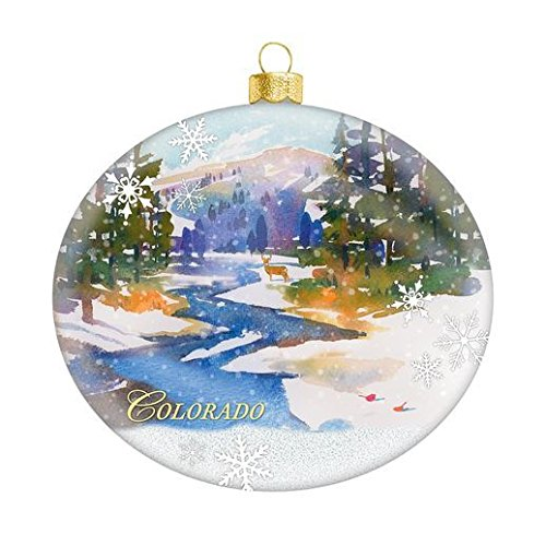 Hallmark 2015 Keepsake Colorado Glass Ornament (China Snowflake Ornament)
