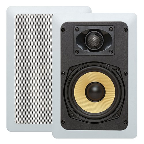 Cmple - 5.25-Inch Pair of 2-Way In-Wall/In-Ceiling Kevlar Speakers - (Best Cmple In Ceiling Speakers)