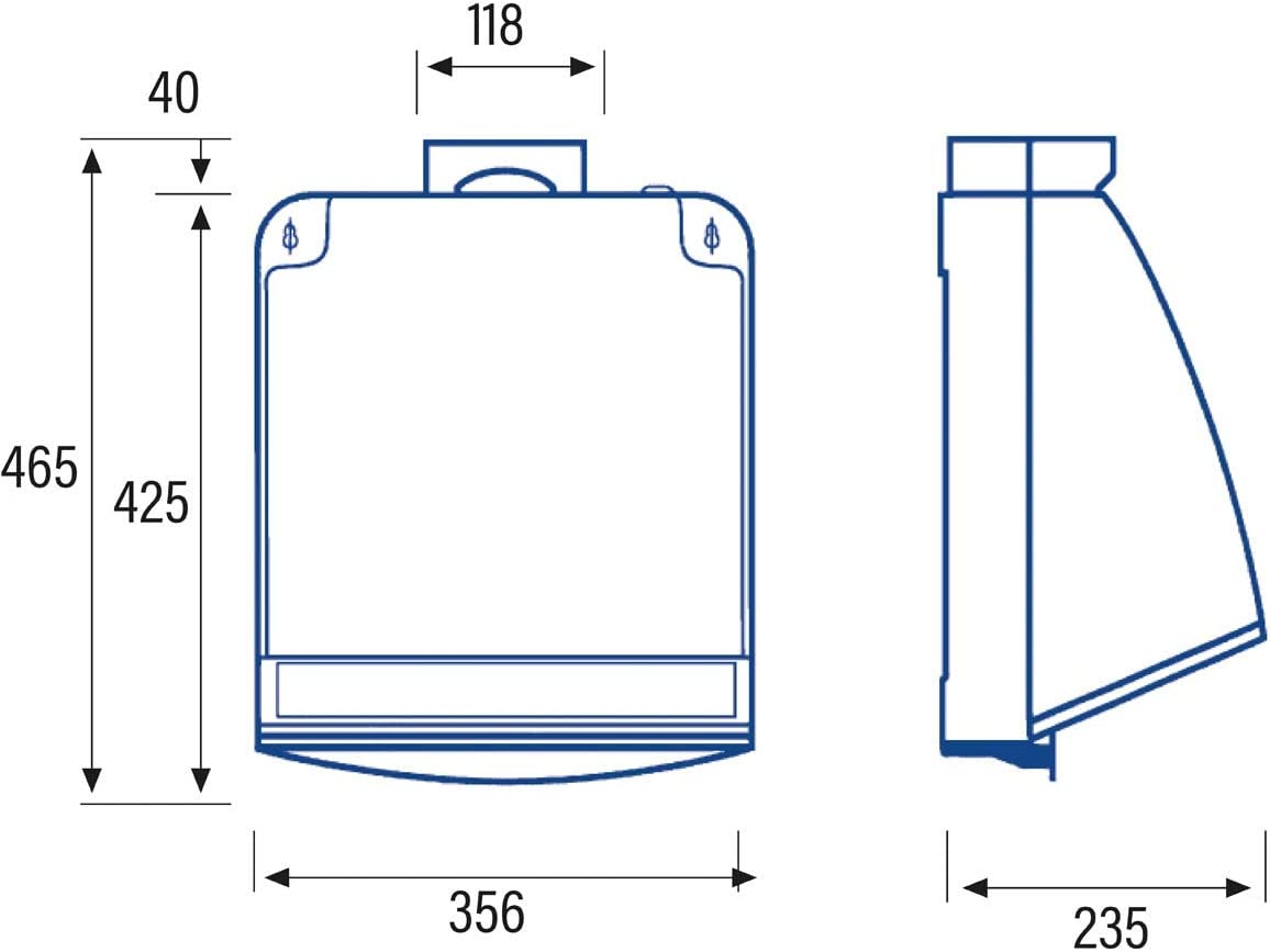 Cata Cocina silencioso | Modelo 750 | Ventilador Extractores de Aire | Color Blanco, 105 W, 49 Decibelios, Estructura de Metal: Amazon.es: Grandes electrodomésticos