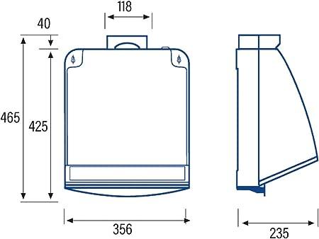 Cata - Cocina silencioso, Modelo 750,Ventilador Extractores de Aire ,Color Blanco, 105 W, 49 Decibelios, Estructura de Metal: Amazon.es: Grandes electrodomésticos