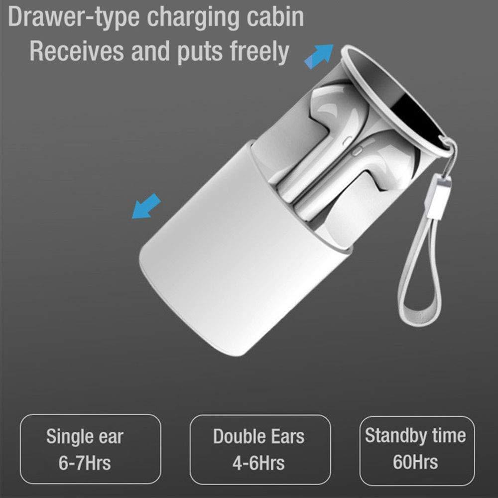 NBZH sans Fil Bluetooth Headset 5,0 I9s TWS Sports st/ér/éo bilat/érale avec Microphone Haute d/éfinition Support pour Siri 400 mAh