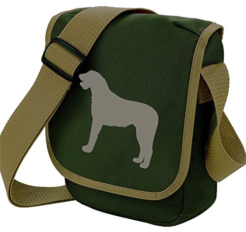 Wolfhound Shoulder Reporter Gift Bag of Silhouette Olive Wolfhound Colours Wolfhound Dog Bag Bag Irish Bag Choice Irish gpXdgn