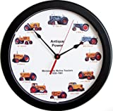 New 14″ Massive Minneapolis Moline Wheel Dial Clock Vintage Tractors from 1930-1961 14 Inches Round For Sale