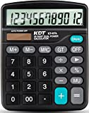 Calculator,KDT Handheld Standard Function Desktop Calculator,12 Digit Dual Power