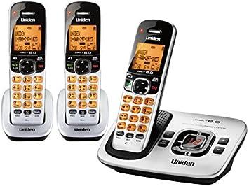 Uniden DECT 6.0 teléfonos inalámbricos con identificador de llamadas y sistema de contestador digital – 3 Terminal Pack: Amazon.es: Electrónica