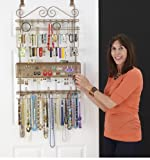 Longstem Overdoor Wall Jewelry Organizer in Bronze - Holds over 300 pieces. Unique patented product - Rated Best!