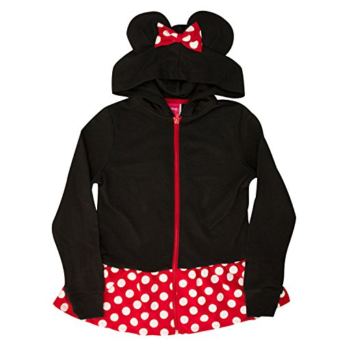 Disney Minnie Mouse Girls Sweatshirt Zip Jacket Costume Ears Ages 4-12 (Medium) for $<!--$20.90-->