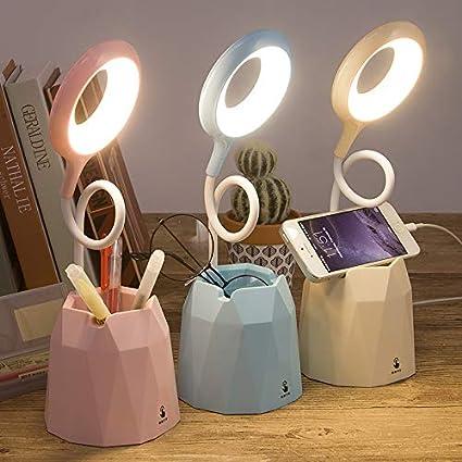 Lampada da Tavolo per la Protezione Degli Occhi con 3 Modalit/à di Illuminazione Luce da Scrivania Lampada da Scrivania LED blue Dimmerabil,Protezione Degli Occhi /& Rotazione a 360 /°