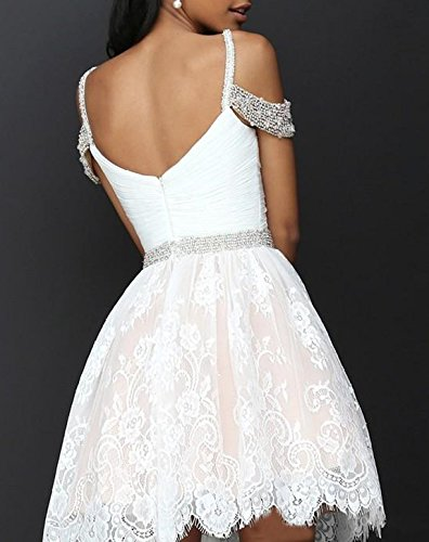 Party Prom spaghetti Women's Scarisee Halter Lace Dresses Homecoming Ivory Straps Short Appliqued GownSA1 gPq8wBCP