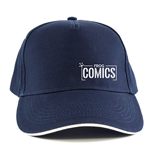 The Lost Boys: Frog Comics SML White Sandwich Peak Cap (One Size Fits All/Navy (with White Peak Edging)) (Schumacher Hat)