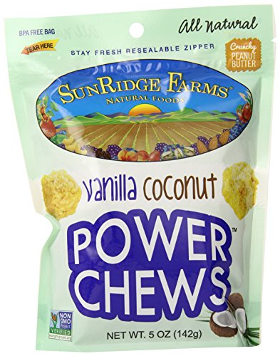 SunRidge Farms Vanilla Coconut Power Chews, 5 Ounce (Pack of 12)