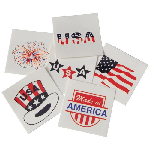 DollarItemDirect Patriotic Temporary Tattoos , Sold by 15 GROSSES by DollarItemDirect (Image #1)