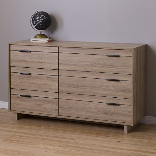 South Shore Fynn 6-Drawer Double Dresser, Rustic Oak by South Shore