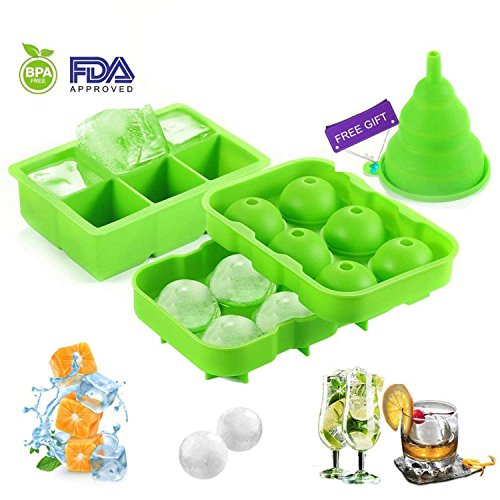 Yeco Ice Cube Trays, Silicone Sphere Ice Ball M...
