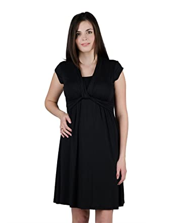 f558f53df7897 Image Unavailable. Image not available for. Color: Momzelle Women's  Breastfeeding & Maternity Suzy Nursing Dress (Medium, Black)