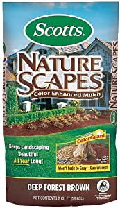 Scotts Nature Scapes Color-Enhanced Mulch Deep Forest Brown - 2 Cubic Feet