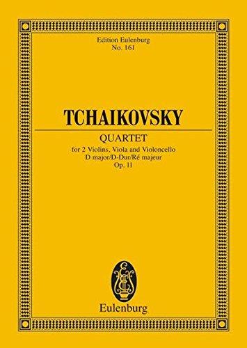 String Quartet No. 1 in D Major, Op. 11, CW 90 (Edition Eulenburg) (Tchaikovsky String Quartet No 1 In D Major)