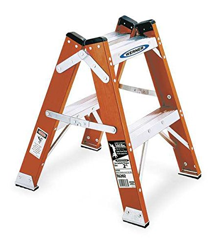 Twin Step Stool, 24 in H, 300 Lb. by Werner