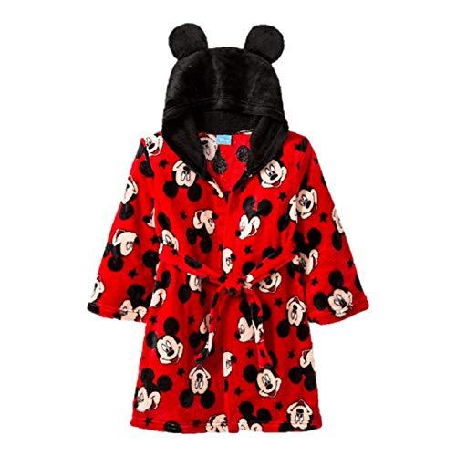 Toddler Minnie Mickey Mouse Robe Bathrobe Pajamas with Ears