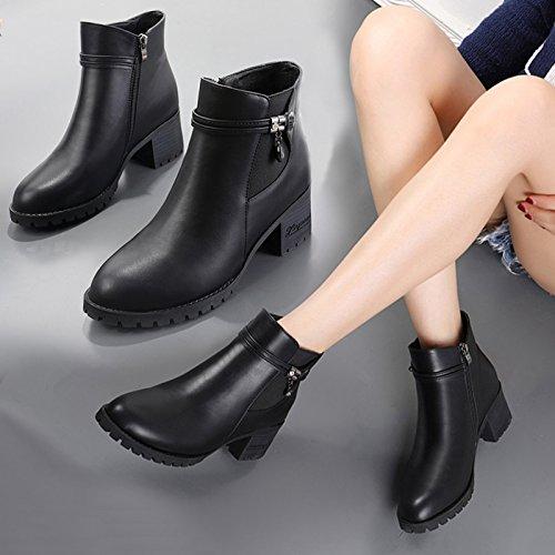 femenina Aemember invierno Las Oto la 38 botas con mujer hijos Martin mujeres botas Amarillo de Inglaterra o botas Wild irregular la zapatos zapatos FfwqHY5w