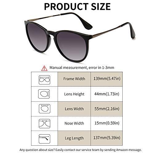 90d4156063e SUNGAIT Vintage Round Sunglasses for Women Classic Retro - Import It All