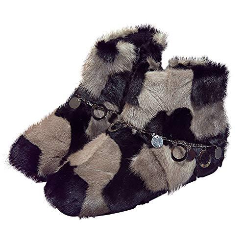 Più Più Più In Cashmere Invernali Personalizzati Personalizzati Personalizzati Stivali MYXUA Di Khaki Spessi Lusso 8XA8vq