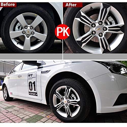 SENYAZON Carbon Fiber Wheel Hub Stickers Trim Ring Sticker Decoration Special 20pcs for Chevrolet Chevy Cruze
