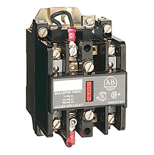 Allen-Bradley 700-N400A1 Type 700-N AC-Operated Industrial Control Relay, 4NO Contacts, 120V 60Hz, 110V 50Hz Allen Bradley Control