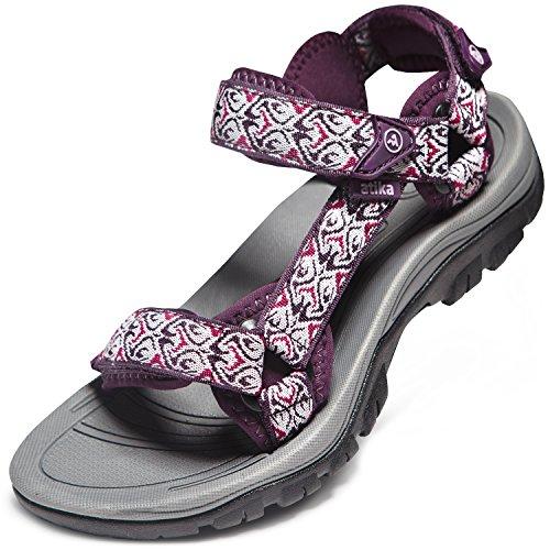 ATIKA AT-W111-MGT_Women 7 B(F) Women's Maya Trail Outdoor Water Shoes Sport Sandals W111 by ATIKA (Image #5)