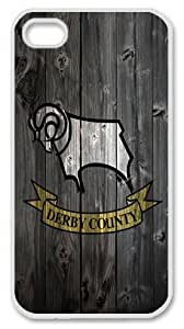 Derby County FC wood background iphone 6 plus 5.5 Case PC Material White
