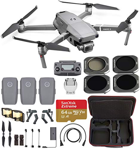 - DJI Mavic 2 Pro Fly Farther Travel Bundle - 3 Batteries, Professional Carrying Case and All-U-Need Accessories