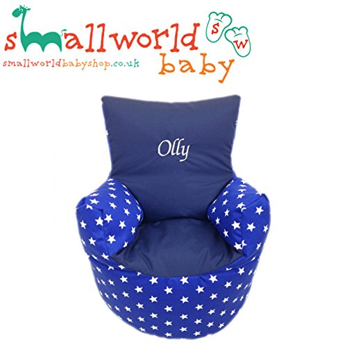 personalisierbar Royal Star und Marine Kleinkinder Sitzsack Small World Baby Shop