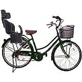 Lupinusルピナス 自転車 26インチ LP-266UA-KNRJ-BK 軽快車 シマノ外装6段ギア オートライト 樹脂製後子乗せブラック