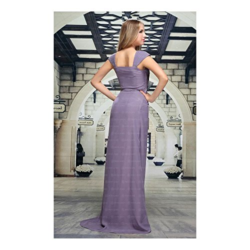 bei Festamo Für Ital Lila Damen Design Maxi Kleid Abend 4rqxwOXtr