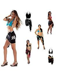 1 World Sarongs Womens Pot Luck Half Mini Swimsuit Sarong in 1 Sarong picked
