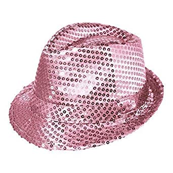 6ed991432 Adult / Kids Colourful Fancy Dress Sequin Fedora Hat
