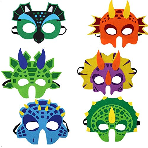 6 Assorted Cartoon Animal Felt Eye Masks Birthday Party Favors Dress-up Cosplay by Yuanyistyle