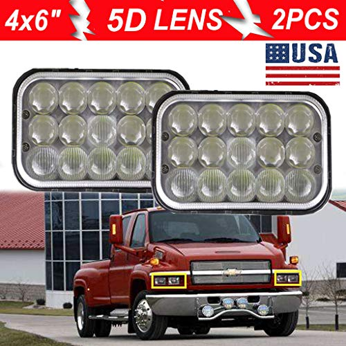 A Pair LED Headlights For Chevrolet C4500 C5500 vehicles w// dual headlights 2PCS