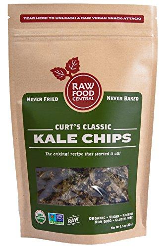 Raw Food Central Curt's Classic Kale Chips 100% Organic NON GMO Gluten Free Vegan