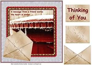 Un Mensaje de un amigo se calienta el corazón en invierno por Christine Crowther